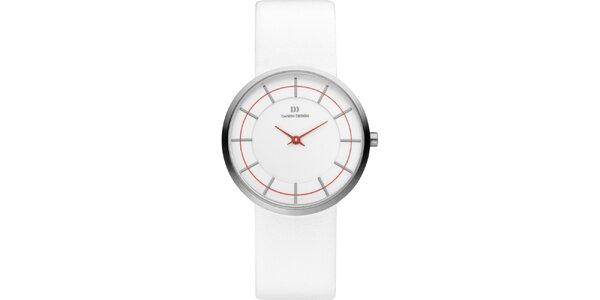 Dámské bílé retro hodinky Danish Design