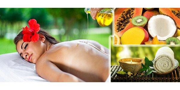 Masáž olejem s vůní ráje – s výtažky z kokosového ořechu, semen papáji…