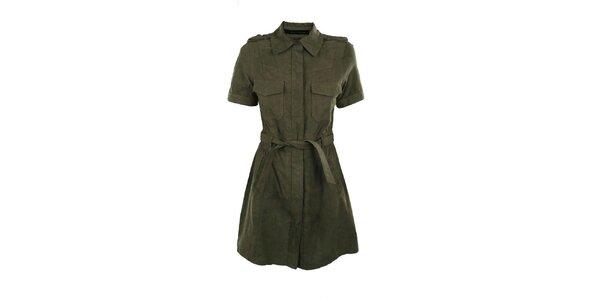 Dámské khaki semišové šaty Company&Co