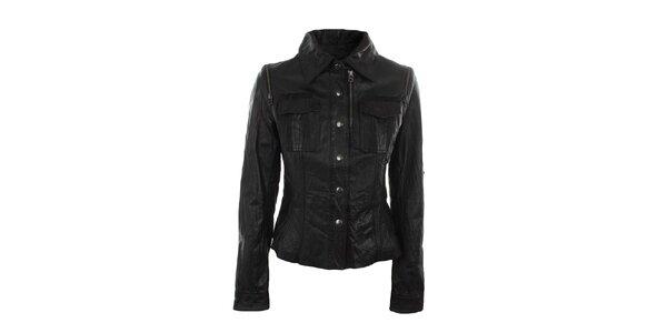 Dámská černá bunda s náprsními kapsami Company&Co