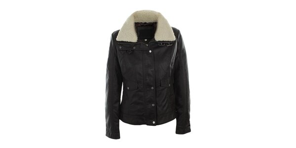Dámská tmavě hnědá bunda s kožíškem Company&Co