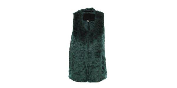 Dámská zelená huňatá vesta Company&Co