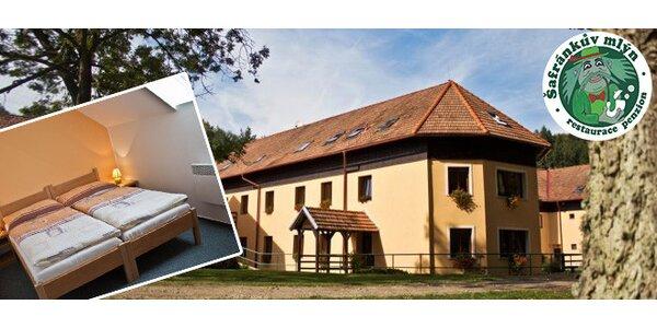 Wellness pobyt v penzionu Šafránkův mlýn na 2 noci pro 2 osoby