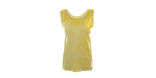 Dámské žluté tílko s kontrastními lemy Fuga