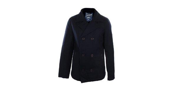 Pánský modrý dvouřadý kabát Fuga