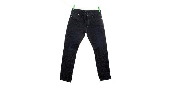 Pánské tmavomodré mačkané džíny Fuga