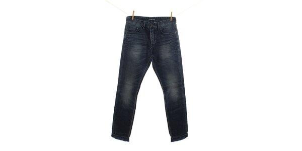 Pánské modré džíny s jemným šisováním Fuga