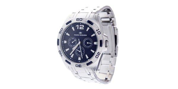 Pánské ocelové hodinky Tom Tailor s tmavě modrým ciferníkem
