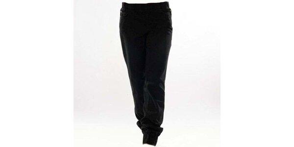 Dámské černé kalhoty s elastickým pasem Ruby London