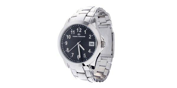 Ocelové hodinky Tom Tailor s černým ciferníkem