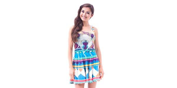 Dámské barevné šaty s aztéckým potiskem Mr. GUGU & Ms. GO