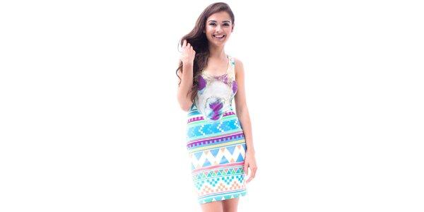 Dámské upnuté šaty s aztéckým potiskem Mr. GUGU & Ms. GO