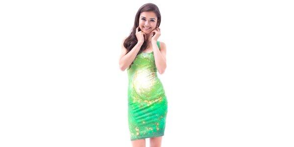 Dámské zelené galaktické šaty Mr. GUGU & Ms. GO