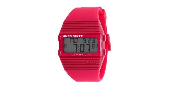 Dámské červené digitální hodinky Miss Sixty