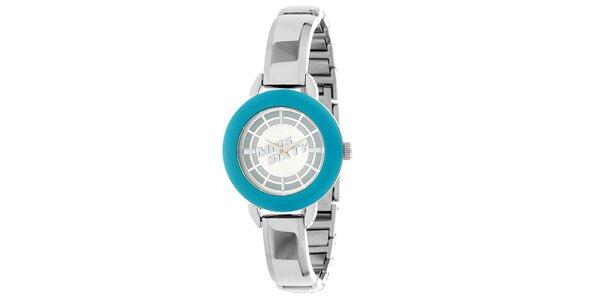Dámské stříbrnomodré hodinky Miss Sixty