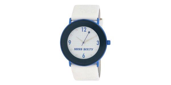Dámské modrobílé hodinky Miss Sixty