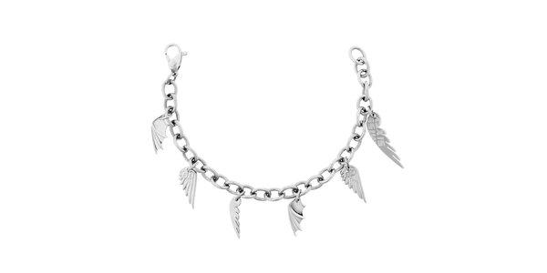 Dámský náramek z nerezové oceli s přívěsky křídel Miss Sixty