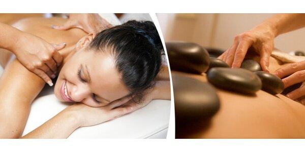 Výběr ze tří druhů masáží - vyberte si tu pravou právě pro Vás