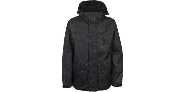 Pánská černá lyžařská bunda s tečkami Trespass