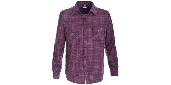 Pánská fialově kostkovaná flanelová košile Trespass