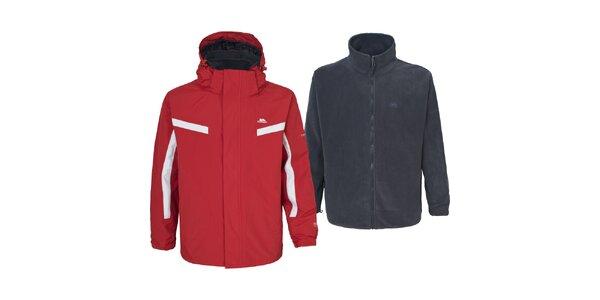 Pánská červená bunda s mikinou 3 v 1 Trespass