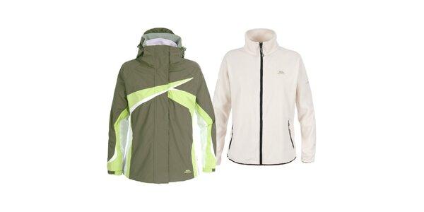 Dámská khaki lyžařská bunda 3 v 1 Trespass