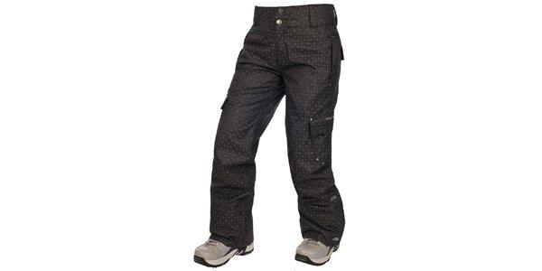 Dámské černé lyžařské kalhoty s potiskem Trespass