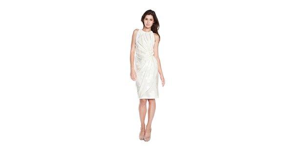 Dámské bílé pouzdrové šaty Moschino Cheap & Chic s vyšitými růžemi