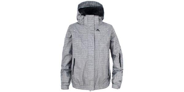 Dámská šedá vzorovaná lyžařská bunda Trespass