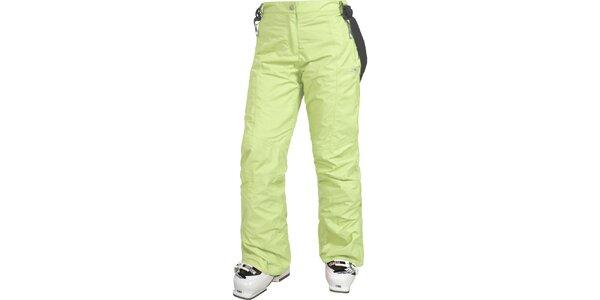 Dámské světle zelené lyžařské kalhoty Trespass