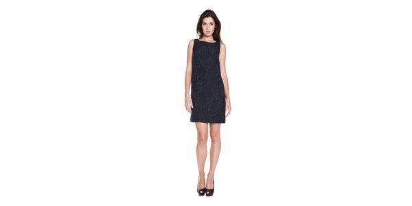 Dámské tmavě modré pouzdrové šaty Moschino Cheap & Chic