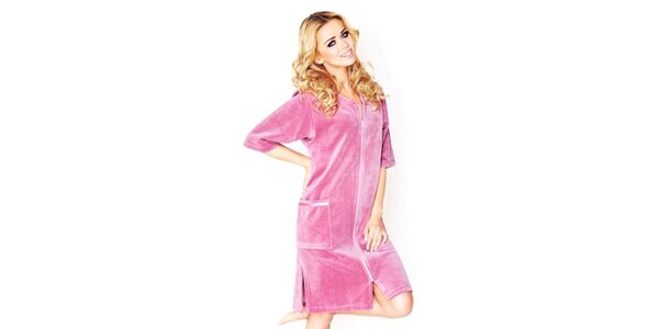 Dámské růžové domácí šaty Wanmar