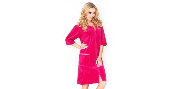 Dámské tmavě růžové domácí šaty Wanmar