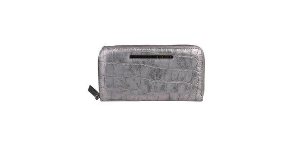 Dámská podlouhlá stříbrná peněženka Sisley