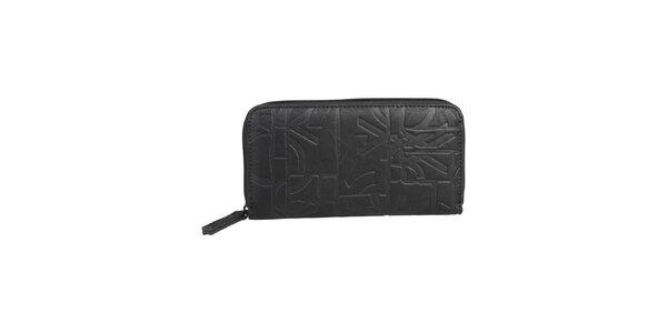 Dámská černá podlouhlá peněženka Benetton