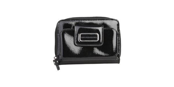 Dámská černá lakovaná peněženka Benetton