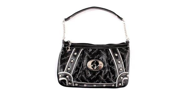 Dámská černá kabelka Baby Phat s kamínky