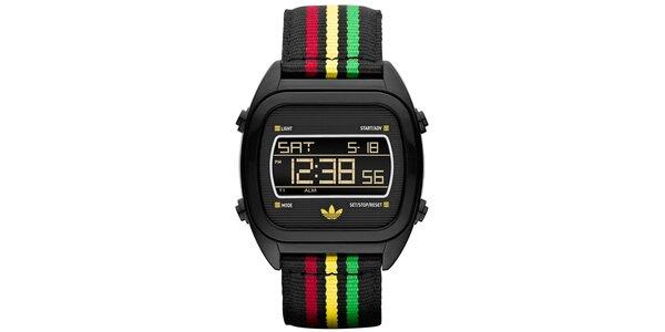 Digitální hodinky s barevným páskem Adidas