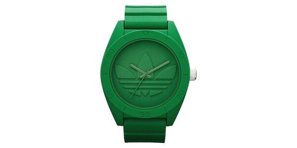 Zelené hodinky Adidas s plastovým řemínkem