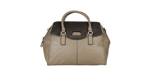 Dámská šedo-béžová kabelka Sisley