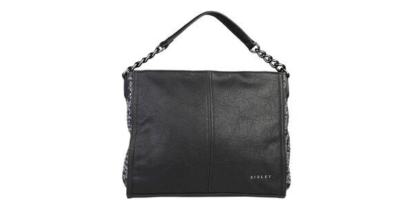 Dámská černá kabelka s cvočky Sisley