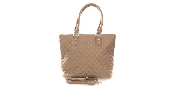 Dámská béžová kabelka s odnímatelným ramenním popruhem London Fashion