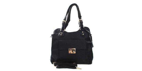 Dámská černá kabelka s odnímatelným popruhem London Fashion