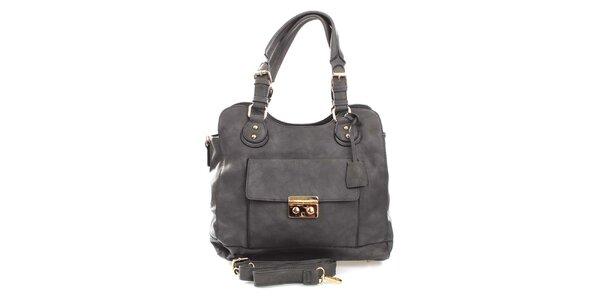 Dámská šedá kabelka s odnímatelným popruhem London Fashion