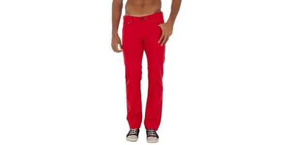 Pánské červené rovné džíny Tommy Hilfiger