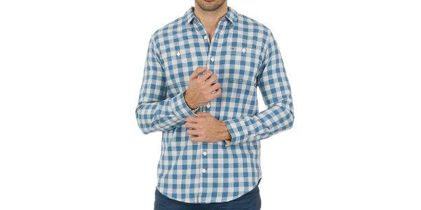 Pánská károvaná modrá košile Tommy Hilfiger
