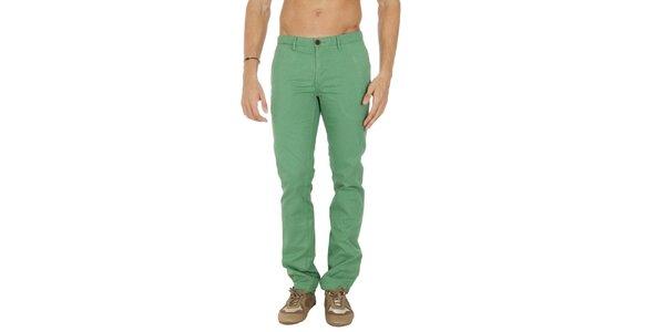 Pánské zelené chino kalhoty Tommy Hilfiger