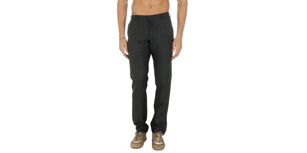Pánské šedé kárované kalhoty Tommy Hilfiger
