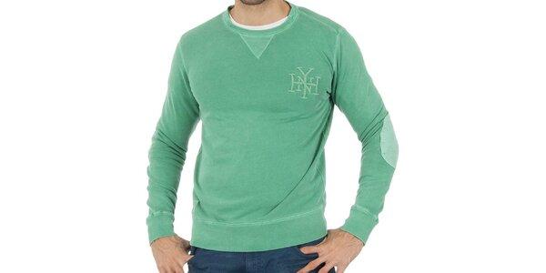 Pánská mentolově zelená mikina Tommy Hilfiger