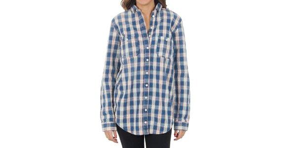 Dámská modrá košile s kostkami Tommy Hilfiger